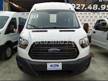 Ford Transit Diesel 18 Pasajeros usado (2018) color Blanco precio $590,000