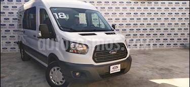 Ford Transit Diesel 15 Pasajeros usado (2018) color Blanco precio $480,000
