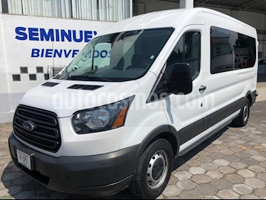 Ford Transit Gasolina Bus 15 Pasajeros usado (2017) color Blanco precio $384,500