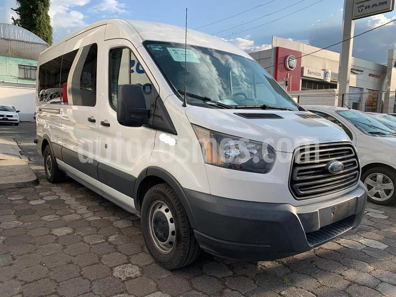 Ford Transit Gasolina Bus 15 Pasajeros usado (2015) color Blanco precio $378,000