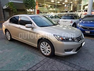 Honda Accord 4P EXL L4 CVT A/AC. AUT. QC PIEL F. NIEBLA RA-17 usado (2013) color Beige precio $209,000