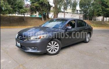 Honda Accord 4P EXL V6 TA A/AC. AUT. QC PIEL GPS F. NIEBLA RA- usado (2013) color Gris precio $189,000