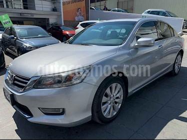 Honda Accord 4p EX-L sedan V6 piel ABS q/c CD CVT Nav usado (2013) color Plata precio $190,000