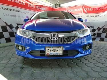 Foto venta Auto usado Honda City EX 1.5L Aut (2018) color Azul precio $239,900