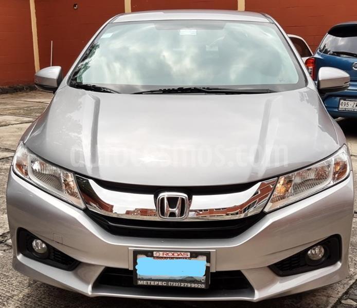 Honda City EX 1.5L Aut usado (2017) color Plata Diamante precio $203,000
