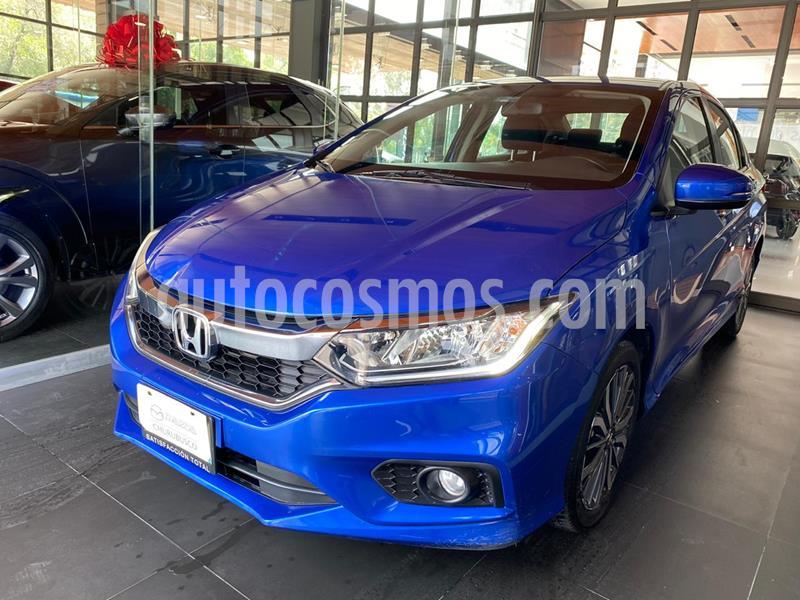 Honda City EX 1.5L Aut usado (2018) color Azul precio $227,000