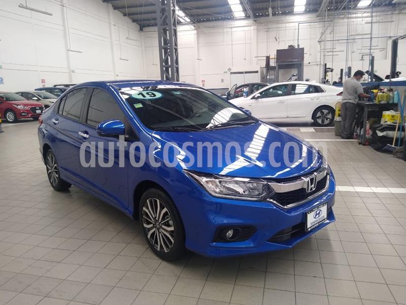Honda City EX 1.5L usado (2019) color Azul Acero precio $265,000