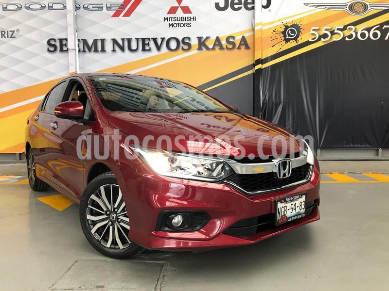Honda City EX 1.5L usado (2018) color Rojo precio $229,000