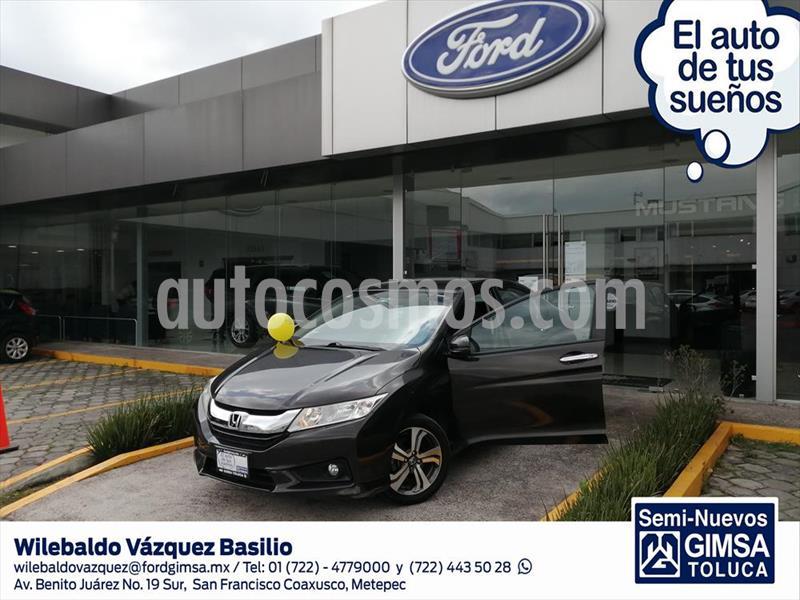 Honda City EX 1.5L Aut usado (2016) color Gris Oscuro precio $160,000