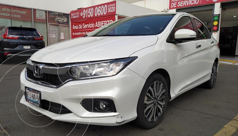 Honda City EX 1.5L Aut usado (2018) color Blanco Marfil precio $245,000