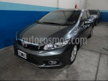 Foto venta Auto usado Honda Civic 1.8 LXS Aut (2014) color Gris Oscuro precio $455.000