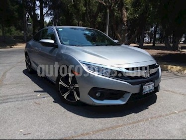 Foto venta Auto usado Honda Civic 2p Coupe Turbo L4/1.5/T Aut (2017) color Plata precio $340,000