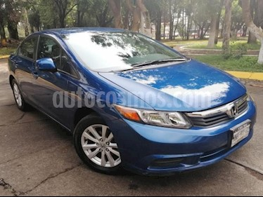 Honda Civic 4p EX Sedan L4/1.8 Aut usado (2012) color Azul precio $145,000