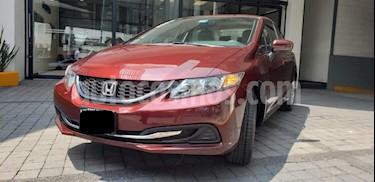 Foto venta Auto usado Honda Civic 4p LX Sedan L4/1.8 Aut (2015) color Rojo precio $205,000
