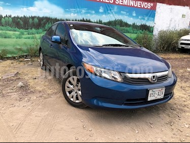 Foto venta Auto usado Honda Civic 4p LX Sedan L4/1.8 Aut (2012) color Azul precio $155,000