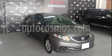 Foto venta Auto usado Honda Civic 4p LX Sedan L4/1.8 Aut (2013) color Gris precio $179,000