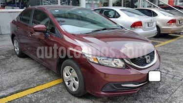 Foto Honda Civic 4p LX Sedan L4/1.8 Aut usado (2015) color Rojo precio $199,000