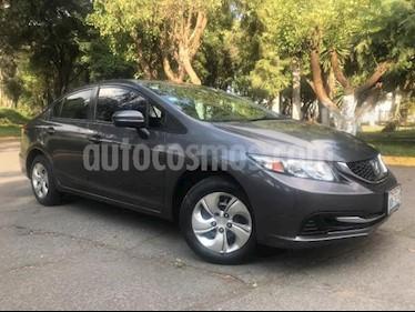 foto Honda Civic 4p LX Sedan L4/1.8 Man usado (2014) color Gris precio $168,000