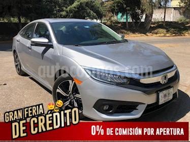 Foto venta Auto usado Honda Civic 4p Touring L4/1.5/T Aut (2018) color Plata precio $407,455