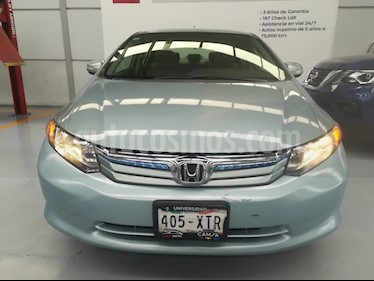 Foto venta Auto usado Honda Civic EX 1.7L Aut (2012) color Verde Oliva precio $159,000