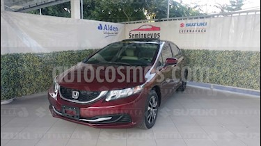 Foto venta Auto usado Honda Civic EX 1.8L Aut (2015) color Rojo Camelia precio $228,000