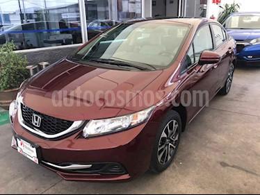Foto venta Auto usado Honda Civic EX 1.8L Aut (2014) color Vino Tinto precio $195,000
