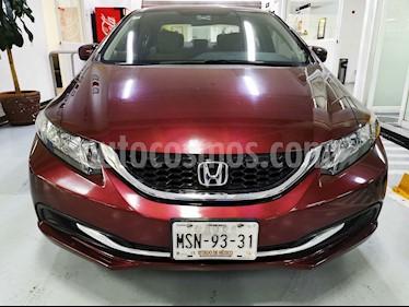 Honda Civic EX 1.8L Aut usado (2014) color Rojo precio $185,000