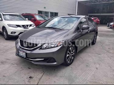 Foto venta Auto usado Honda Civic EX 1.8L (2014) color Gris precio $185,000