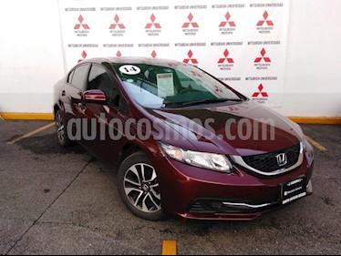 Foto venta Auto Seminuevo Honda Civic EX Aut (2014) color Vino Tinto