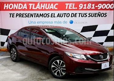 Honda Civic EXL 1.8L Aut NAVI usado (2015) color Rojo Camelia precio $230,000