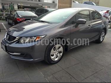 Foto venta Auto usado Honda Civic LX 1.7L Aut (2015) color Gris precio $195,000