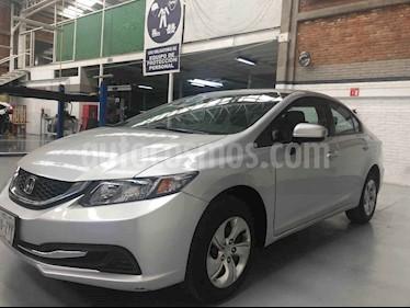 Foto venta Auto usado Honda Civic LX 1.8L Aut (2014) color Plata precio $159,000