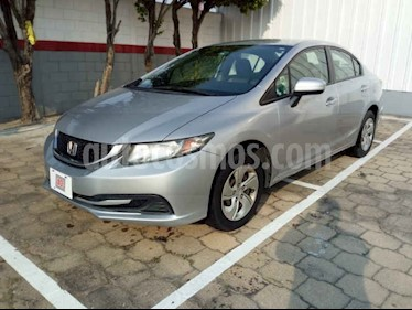 Foto venta Auto usado Honda Civic LX 1.8L (2014) color Plata precio $170,000