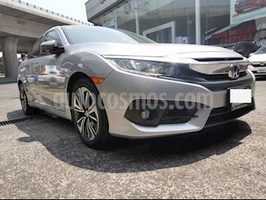 Honda Civic 4P TURBO PLUS SEDAN CVT 1.5T 174 HP PIEL QC GPS R usado (2016) color Plata precio $289,000