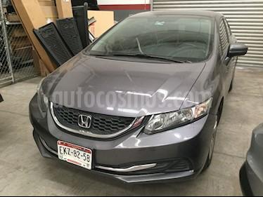 Honda Civic LX 1.8L usado (2014) color Gris precio $185,000