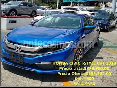 Honda Civic 4p i-Style L4/2.0 Aut usado (2019) color Azul precio $353,307