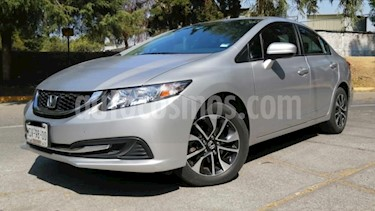 Honda Civic 4P EX SEDAN AT PANTALLA RA-16 usado (2014) color Plata precio $199,000