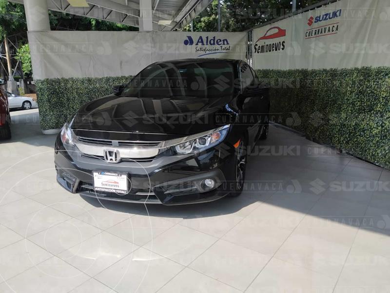 Honda Civic Coupe Turbo Aut usado (2017) color Negro Cristal precio $298,000