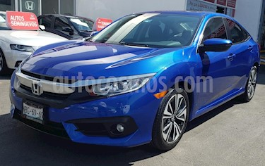Honda Civic Turbo Plus Aut usado (2017) color Azul precio $305,000