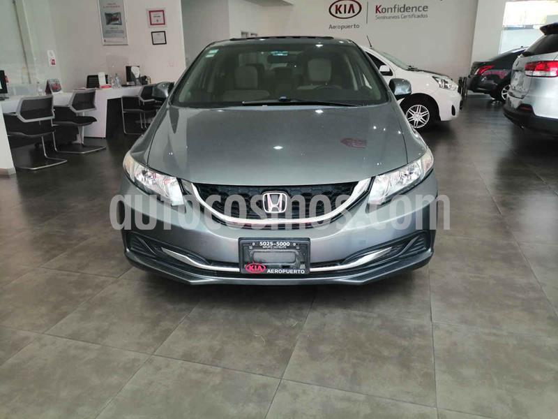 Honda Civic EX Aut usado (2013) color Gris precio $170,000