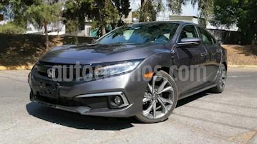 Honda Civic 4P TOURING CVT 1.5T 174 HP PIEL QC SPOILER F. NIE usado (2019) color Gris precio $422,000