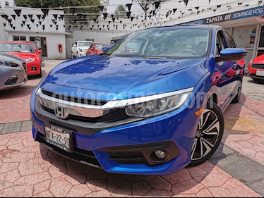 Honda Civic Turbo Plus Aut usado (2016) color Azul precio $250,000