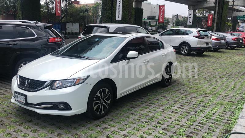 Honda Civic EX 1.8L usado (2013) color Plata Diamante precio $155,000