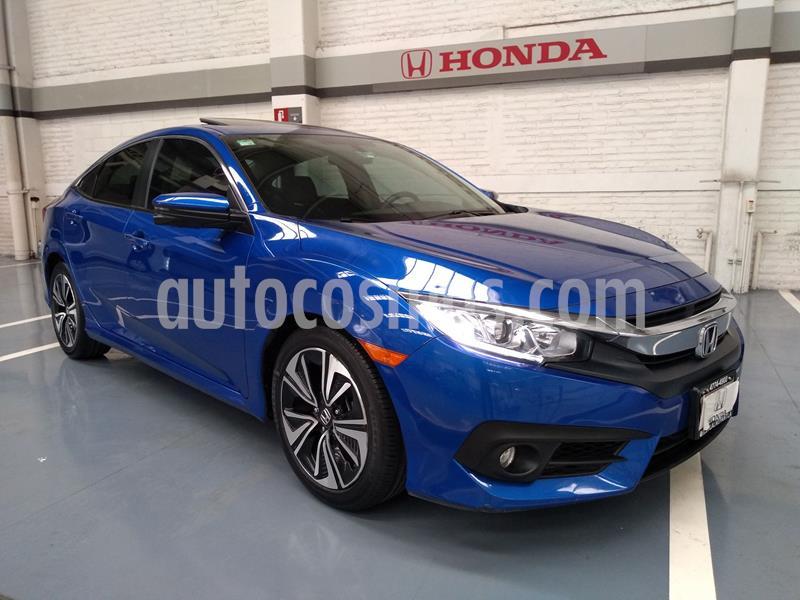 Honda Civic Turbo Plus Aut usado (2018) color Azul precio $355,000
