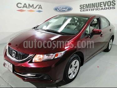 Honda Civic 4p LX Sedan L4/1.8 Aut usado (2014) color Vino Tinto precio $189,000