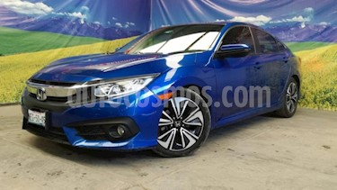 Honda Civic 4P TURBO PLUS SEDAN CVT 1.5T 174 HP PIEL QC GPS R usado (2017) color Azul precio $310,000
