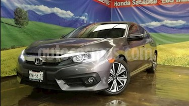 Honda Civic 4P TURBO PLUS SEDAN CVT 1.5T 174 HP PIEL QC GPS R usado (2016) color Gris precio $295,000