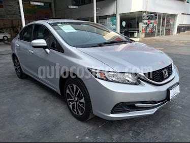 Honda Civic 4P EXL SEDAN TA QC PIEL GPS RA-16 usado (2015) color Plata precio $203,000
