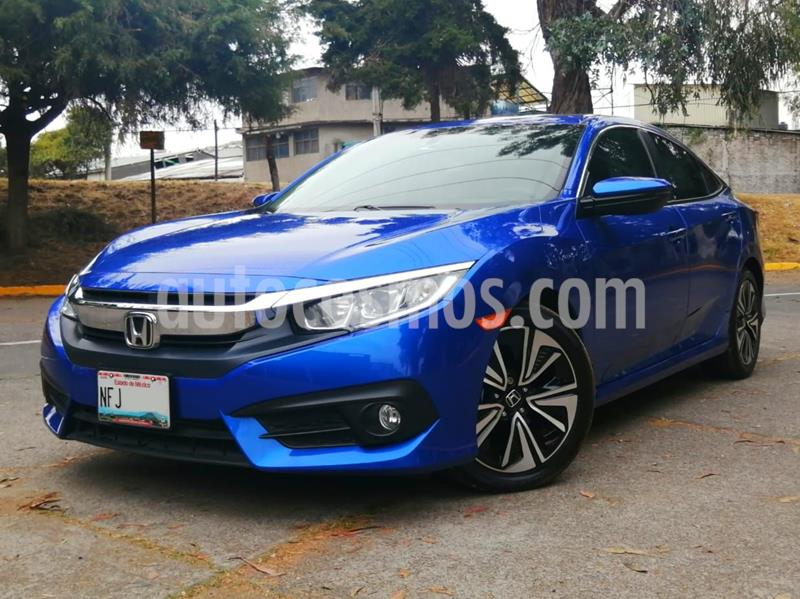 Honda Civic Turbo Plus Aut usado (2018) color Azul precio $330,000