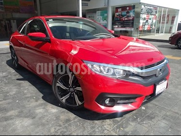 Honda Civic 2P COUPE TURBO CVT 1.5T 174 HP QC RA-17 usado (2017) color Rojo precio $309,000